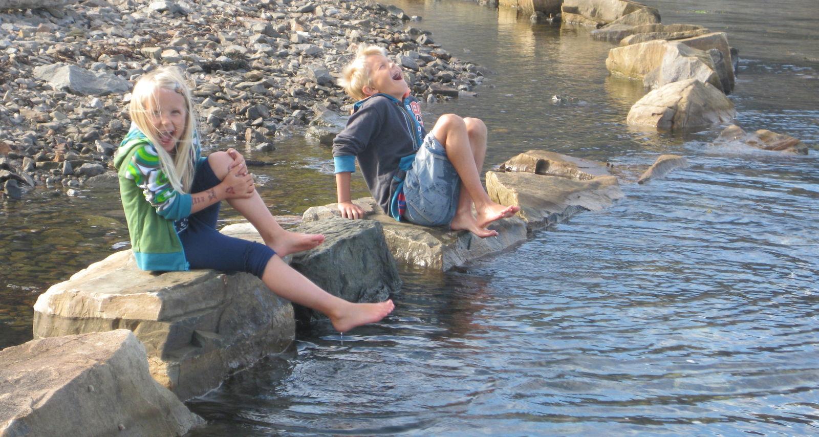 Guro og Oskar på Flekkerøya