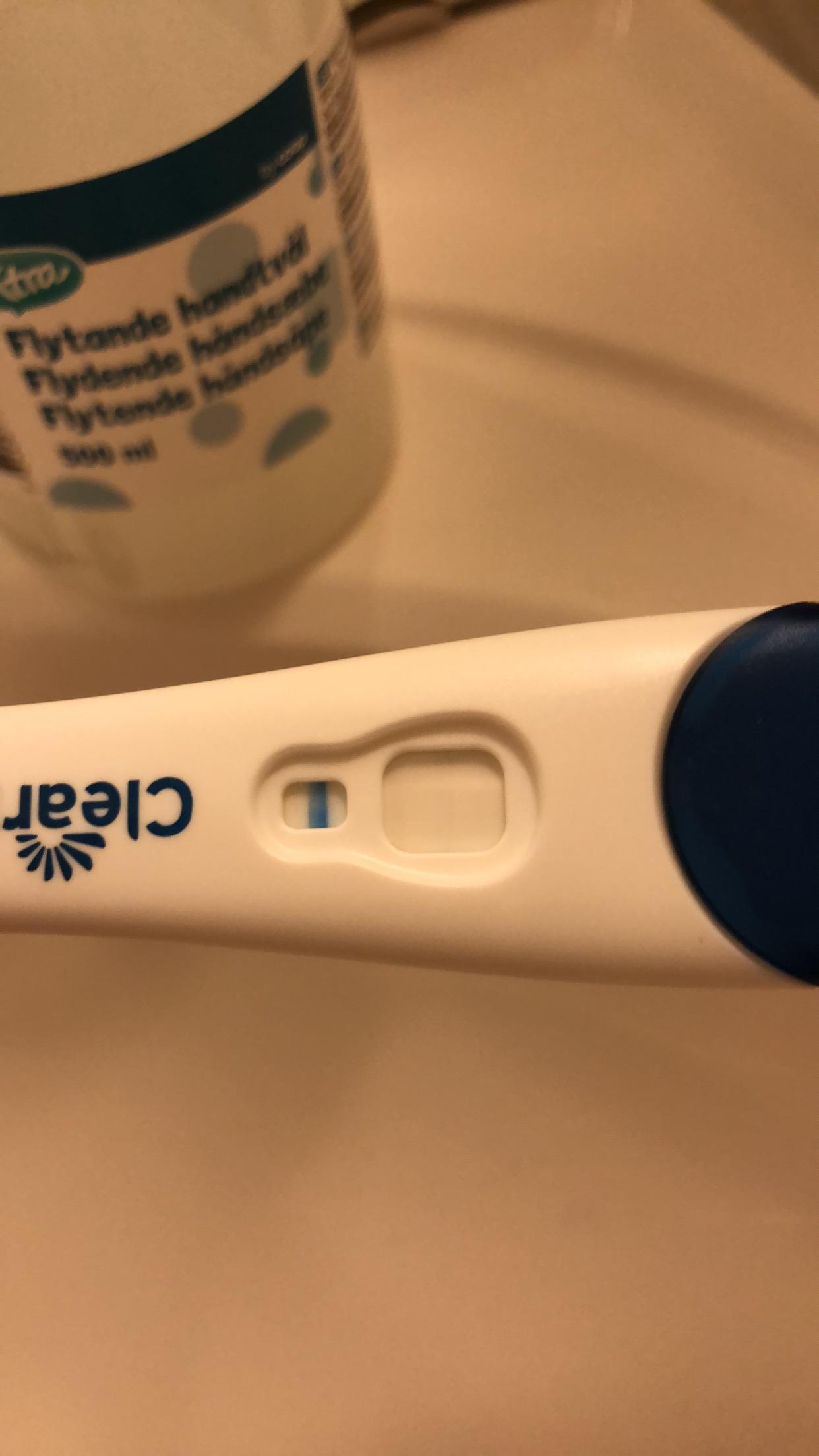 Graviditetstest positiv eller negativ